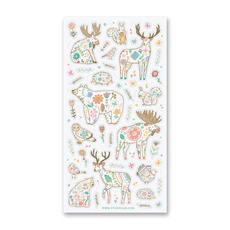Floral Pattern Animal Stickers