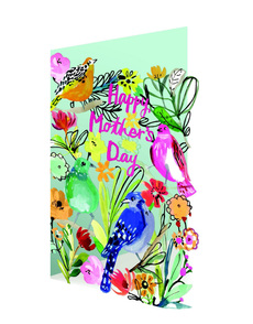 Mother's Day Birds Laser Cut Card