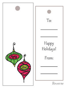 Ornaments Gift Tag