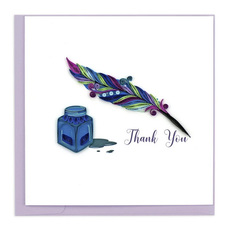 Quill and Ink Quilling Card