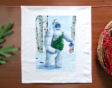 Is It Chirstmas Yeti Holiday Towel