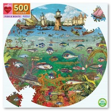 Fish and Boats Round Puzzle - 500pc