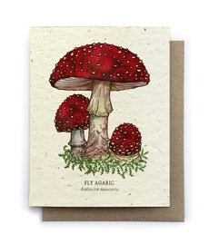 Red Mushrooms Plantable Seed Card