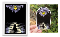 Solitude, Evening Canoe Card and Vinyl Sticker