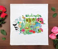 Watercolor USA: Washington Towel