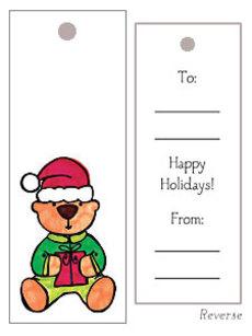 Bear Present Gift Tag