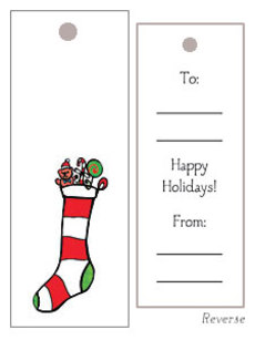 Stocking Gift Tag