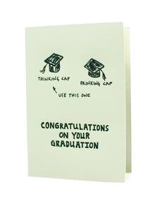 Thinking Cap Drinking Cap Graduation Card