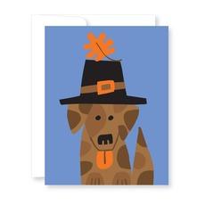 Pilgrim Pup Thanksgiving Card