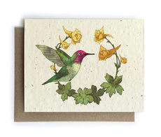 Hummingbird & Larkspur Plantable Seed Card
