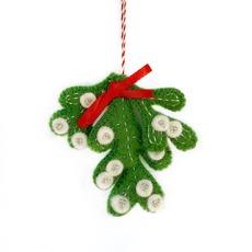 Mistletoe Felted Ornament