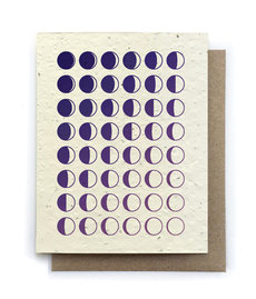 Moon Phase Plantable Seed Card