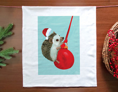 Holiday Hedgehog Towel