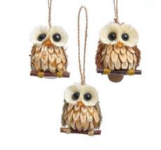 Owl Wooden Ornament