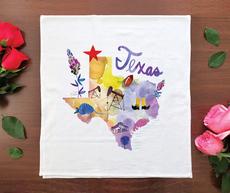 Watercolor USA: Texas Towel