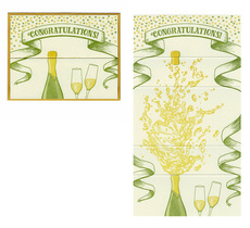 Champagne Congratulations Fold Out Card