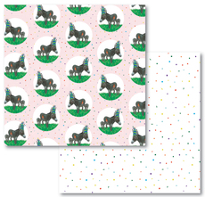 Donkey and Confetti Reversible Eco-Wrap