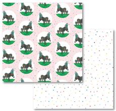 Donkey and Confetti Reversible Eco-Wrap