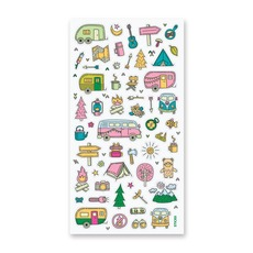 Happy Campers Stickers