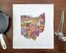 Doodle: Ohio Towel