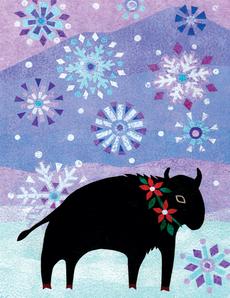 Bison Snowfall
