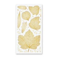 Gold Leaves Stickers