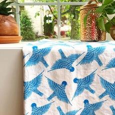 Bluebirds Tea Towel