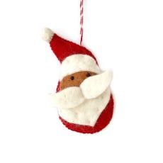 Santa Claus Felted Ornament