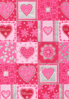 With Love Heart Patchwork Wrap