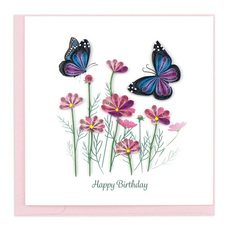 Butterflies Quilling Card
