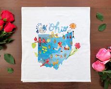 Watercolor USA: Ohio Towel