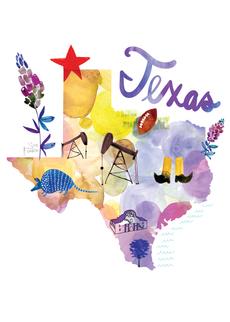 Watercolor USA: Texas