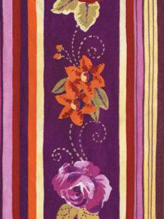 Anushka Floral Stripe Wrap