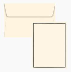 Black Cream Boxed Stationery Set