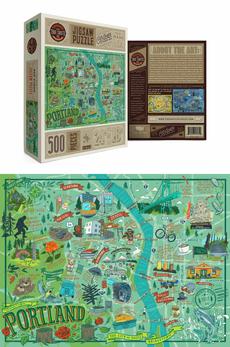 Portland Illustrated Puzzle - 500pc