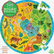 Biodiversity Round Family Puzzle - 500pc