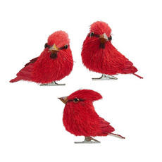 Cardinal Wooden Ornament