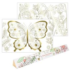 Butterfly Gold Foil Coloring Poster