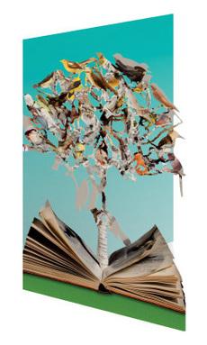 Literary Animal Tree Laser Cut Card
