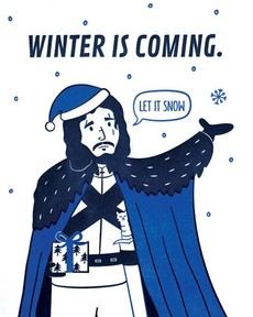Winter Is Coming Letterpress Card