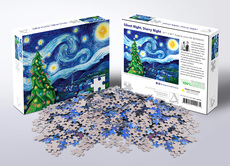 Allport Silent Night, Starry Night Puzzle - 1000pc