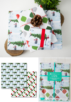 Penguin Tree Reversible Eco-Wrap