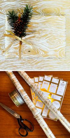 Golden Wood Grain Wrap Bundle