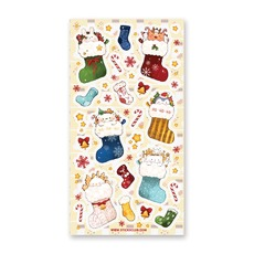Cute Critters Christmas Stockings Stickers