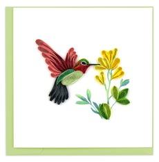 Hummingbird & Flower Quilling Card