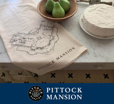 Pittock Mansion Blueprint Towel