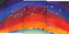 Around the World Triptych Blank