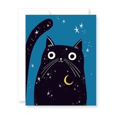 Cat with Moon Halloween