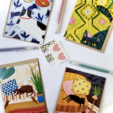 Animals At Home Card Set