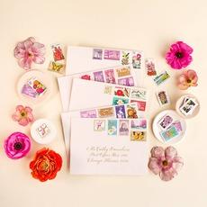 Botanical Vintage Stamp Collection
